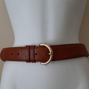 "Coach Belt Genuine Leather Brown 36"" Size Medium"